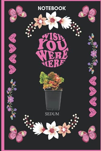 Notebook Wish You Were Here Sedum:...