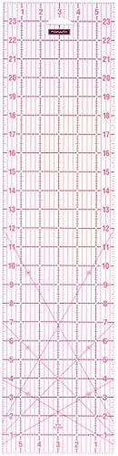 """Fiskars Lineal, Raster in Zoll/Inch, 6\"""" x 24\"""", Optimal für Patchwork, Verschiedene Formen, Acryl, 1004743"""