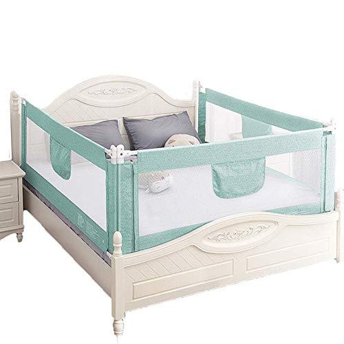 WYJW Baby Bedrail groen, Universele Verticale Lift Baffle voor Queen & King Size Bed, 3-zijdig (Maat : 1.51.81.8m)