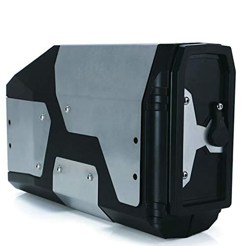 HehiFRlark Caja de Herramientas para R1250gs R1200gs LC para R 1200 GS Soporte Lateral Izquierdo Caja de Aluminio Negro
