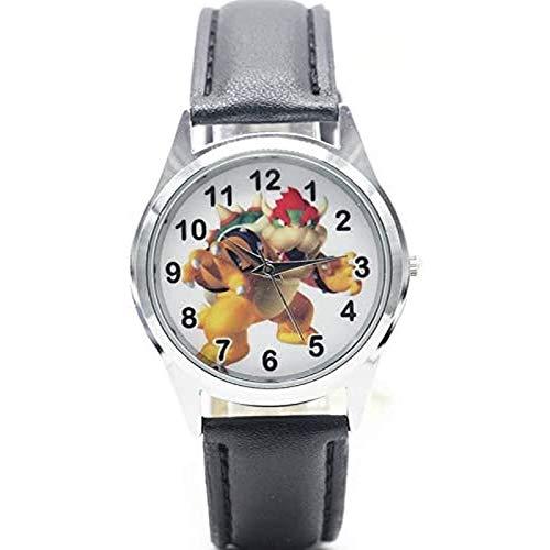 buyaoku Reloj Super Mario Reloj Super Mario Bowser Reloj Deportivo de Cuarzo Reloj de Dibujos Animados Reloj para niños