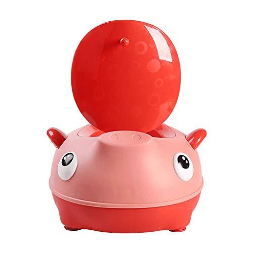 QIQIDEDIAN Toilette pour Enfants Femelle Toilette pour bébé Taille Plus Siège pour Enfant Urinoir pour bébé Pot Urinoir pour bébé garçon (Couleur : Rouge, Taille : 35cm*30.5cm*20cm)