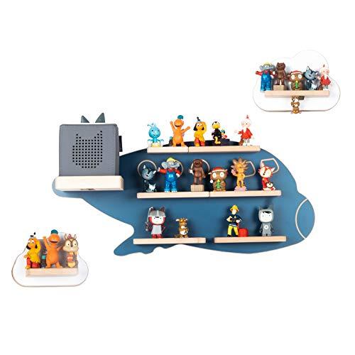 BOARTI Kinder Regal Boeing Set in Weiß Blau - geeignet für die Toniebox und ca. 54 Tonies - zum Spielen und Sammeln