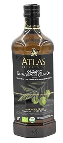 Atlas Organic Extra Virgin Olive oil From Morocco 750 ml glass bottle