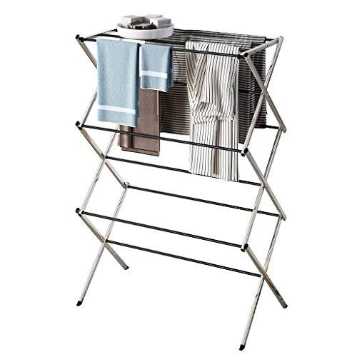 Nagolife Dual Bars Horizontal /& Vertical Telescope Style 3 Tiers Stainless Steel Clothing Garment Shoe Rack Clothing Airing Holder Storage Rack Shelves