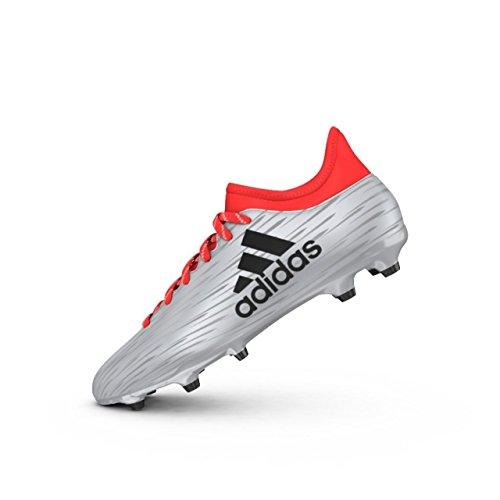 adidas Herren X 16.3 FG Fußballschuhe, Mehrfarbig (Silber Plamet Negbas Rojsol), 44 2/3 EU