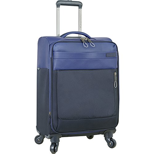Nautica Carry-On Expandable Spinner Luggage, Blue