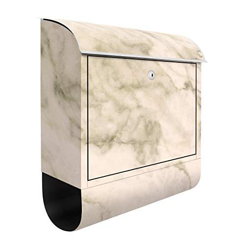 Bilderwelten Briefkasten mit Zeitungsrolle Phoenix Marmor 46cm x 39cm