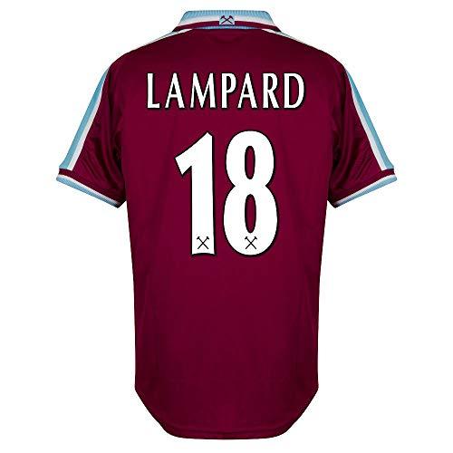 Score Draw West Ham Utd Home Lampard 18 Retro Trikot 1999-2001 (RetroFlexBeflockung) - XXL