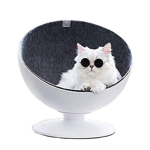 XWSD Cat Boss Nest, 360 ° drehbar, Vier Jahreszeiten, bequem atmungsaktiv, rutschfestes Matten-Design, Machen Sie Ihr Haustier komfortabler, entspannter