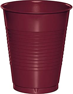 Creative Converting 28312281 20 Count Touch of Color Plastic Cups, 16 oz, Burgundy