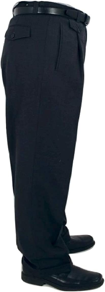 Big and Tall Full Leg Baggy Roomier Fit Cuffed Dress Pants to Size 80