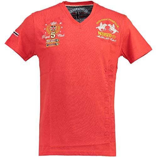 Geographical Norway Camiseta DE NIÑO JOLATINA Rojo/Azul Marino 16