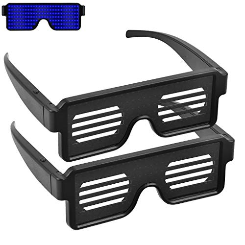 Buy LED Glasses, 2Pcs Fancy LED Light Up Glasses With 8 Dynamic Patterns Glowing Luminous Glasses Hot Selling By Ugood (Blue)