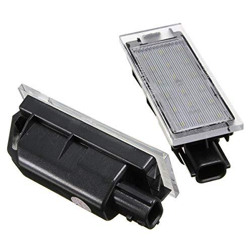 Zimaes Duradero Par de la Placa de la matena de la Placa de la Licencia LED 12V LED para Renault Twingo Clio Megane Lagane Fuerte
