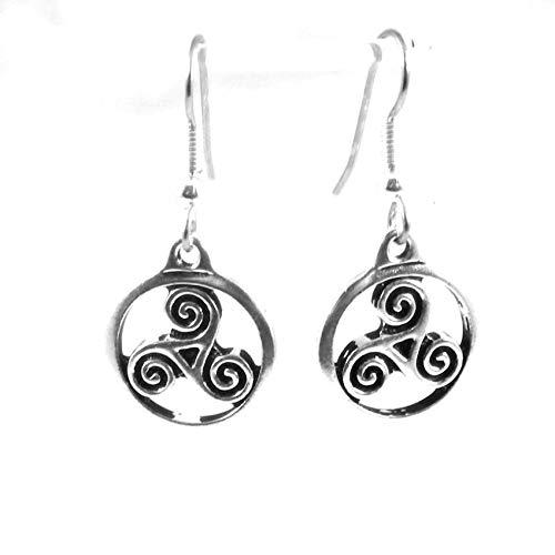 Triple Spiral Knotwork or Triskele Earrings 1744