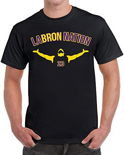 tees geek LABRON Basketball Men's T-Shirt - (X-Large) - Black
