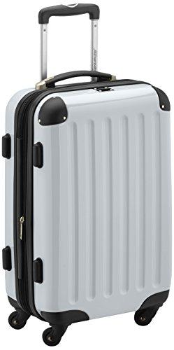 HAUPTSTADTKOFFER - Alex - Handgepäck Hartschalen-Koffer Trolley Rollkoffer Reisekoffer Erweiterbar, 4 Rollen, 55 cm, 42 Liter, Weiß