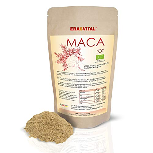 Maca Root Powder Red Organic 300 g Gelished from Peruvian Andes
