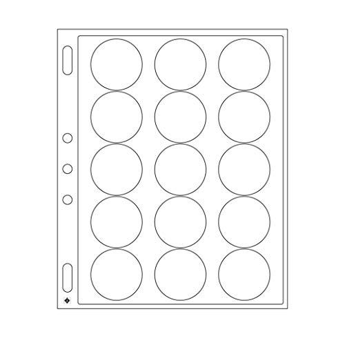 feuilles en plastique ENCAP pour 15 capsules av.un diamètre de l'int´rieur de 44 à 45 mm