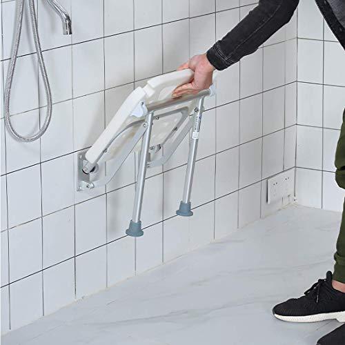 AJH Duschhocker zum Rasieren von Beinen Rutschfester wasserdichter Badduschstuhl für ältere Menschen, Senioren, Behinderte und Behinderte - Hält bis zu 200 kg