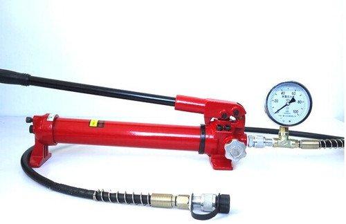 Gowe Pompe à main hydraulique manuel à pompe avec jauge à huile hydraulique de la pompe hydraulique