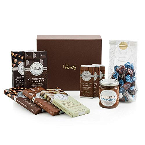 Venchi Kit Esperienziale Chocolight G - Senza Zuccheri Aggiunti, Senza Glutine - Set Regalo Per Degustazione, Cioccolato, 1185 Grammo