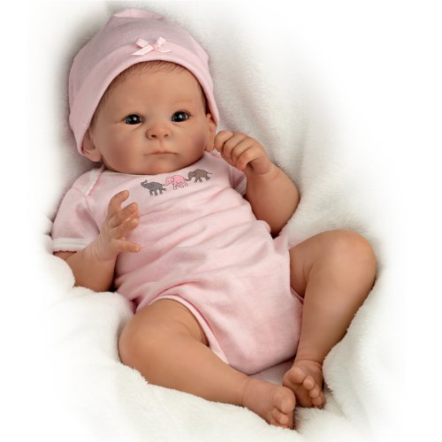 The Ashton - Drake Galleries Tasha Edenholm So Truly Real Lifelike Poseable Baby Girl Doll: Little Peanut - 17'