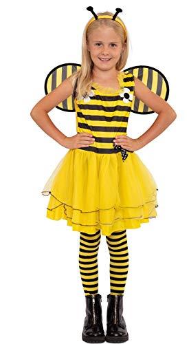 Magicoo, costume da ape per bambine, con costume, sonda e ali, taglia da 92 a 140, costume da ape per bambine