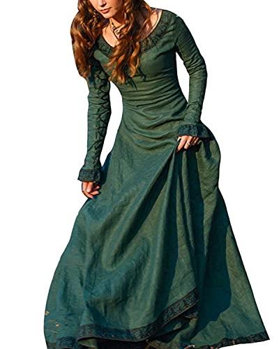 ORANDESIGNE Vestito Medievale Donna Vovotrade Costume Cosplay Principessa Vestito Gotico Rinascimentale Verde IT 50