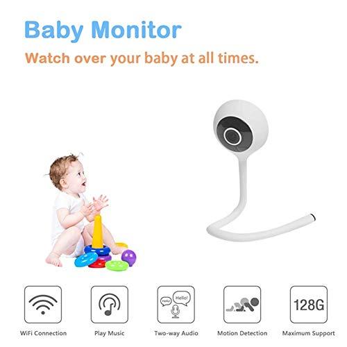 LLVV Babyphones, baby-monitoren, smart wireless wifi, 1080P, baby-bewakingscamera, video-IP-camera, telefoon op afstand observeren, kristalarm, luchtvochtigheid en temperatuur