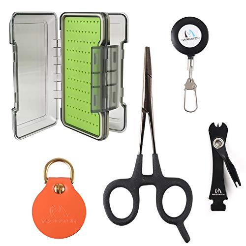 M MAXIMUMCATCH Maxcatch Fly Fishing Tool Kit and Accessories Combo (UMAS Fly Box+Accessories)