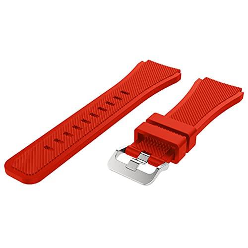 CGGA Para Huami Amazfit GTR 2 Correa Stratos 3 2 Pulsera deportiva de silicona de 22 mm, correa de reloj inteligente GTR2, accesorios de repuesto (color de la correa: rojo, ancho de la correa: 22 mm)