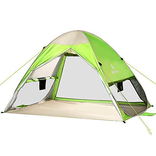 Powcan UV-Schutz 50+ Pop up Strandmuschel Automatisches Strandzelt für 2-3 Personen Familien Portable Baby Beach Zelt in Outdoor Tragbar Wurfzelt 200x150x130cm (Grün)