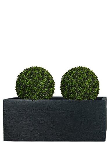 Pflanzwerk® Pots de Fleurs Tub Jardinière Anthracite Plastique 27x80x30cm *Résistant au Gel* *Protection UV* *Qualité européenne*