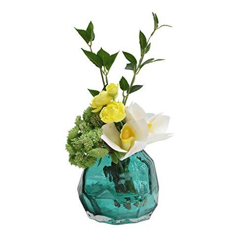 Getrocknete Blumen Nordic künstliche Blumen-Simulation Blumen Set, Innen Wohnzimmer Blumenschmuck Artificial Blumendekoration, künstliche Anlage Mini-Topf künstliche Blumen