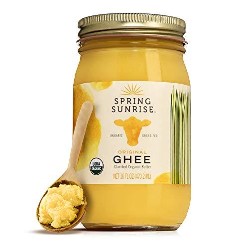 Ghee Organic Grass Fed - Ghee Oil Butter - Organic Ghee - Ghee Oil Butter Grass Fed Ghee Organic - Organic Butter - Grass Fed Butter - Ghee Butter Organic Grass Fed - Keto Butter - SPRING SUNRISE 16oz