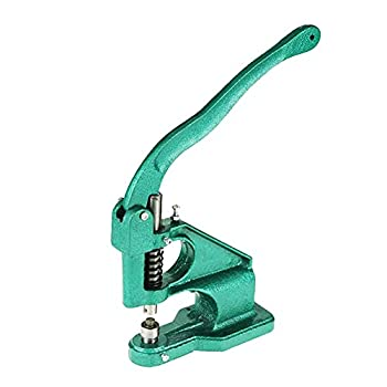 Hand Press Grommet Machine Heavy Duty Hand Press Grommet Eyelet Machine Industrial Grommet Eyelet Tool Kit Table Mount Hole Punch Tool with 3 Dies and 1500pcs Grommets 6/10/12 mm