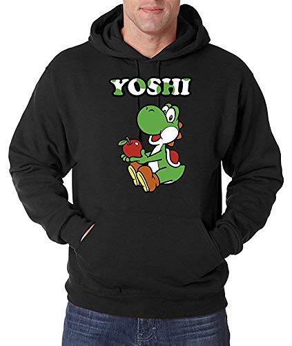 Youth Designz, felpa con cappuccio da uomo con stampa frontale, oltre 30 diversi motivi: film, giochi e musica Yoshi S