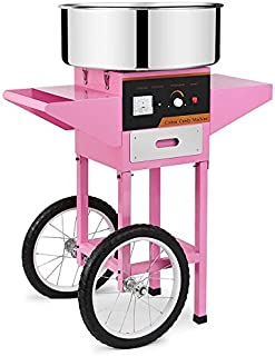 Chaneau Machine à Barbe à Papa Professionnelle 1000w Cotton Candy Machine Avec Chariot Machine à Barbe