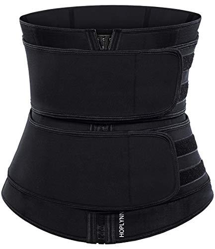 HOPLYNN Neoprene Sweat Waist Trainer Corset Trimmer Belt for Women Weight Loss, Waist Cincher Shaper Slimmer Black Medium 02