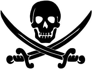 Autoaufkleber Sticker Pirat Schwerter Aufkleber