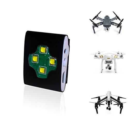UAS Drone LED Strobe Light for Night Flights, UAV Locator Strobe Light Fits All Multirotor Quadcopter DJI Inspire Phantom Mavic RC Aircraft Typhoon, UAV Drones FAA Approved Compliant