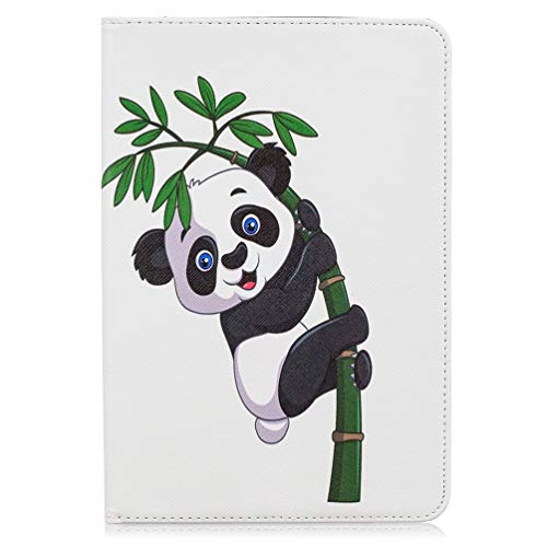 Hoesje voor Samsung Galaxy Tab S5e T720/ T725, Slim Fit Schokbestendig PU Lederen Smart Cover met Kickstand Card Slots Flip Notebook Soft Back Cover voor Galaxy Tab S5e 10.5 Inch SM-T720/ T725 Big panda