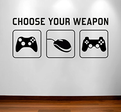 RaDecal CHOOSE YOUR WEAPON | Video Game Gaming Vinyl Decal Wall Sticker...