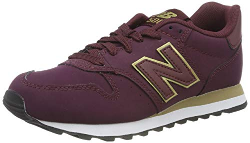New Balance 500, Zapatillas Mujer, Dorado Burgundy
