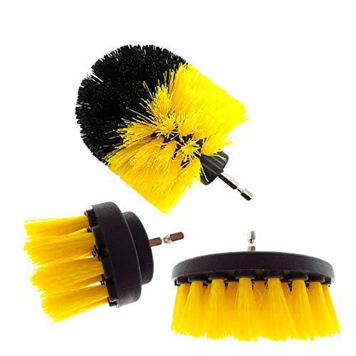 Boor borstel set Power Wasborstels voor auto badkamer keukenreiniging elektrische wasborstelkop set voor het reinigen van de keuken in de auto, 12 stuks / 3 stuks 3 stuks.