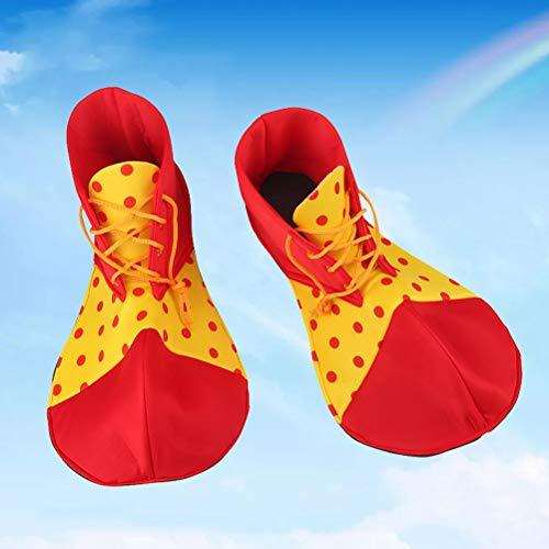 Amosfun Zapatos de Payaso Dot Carnival Props Disfraz de Halloween ...