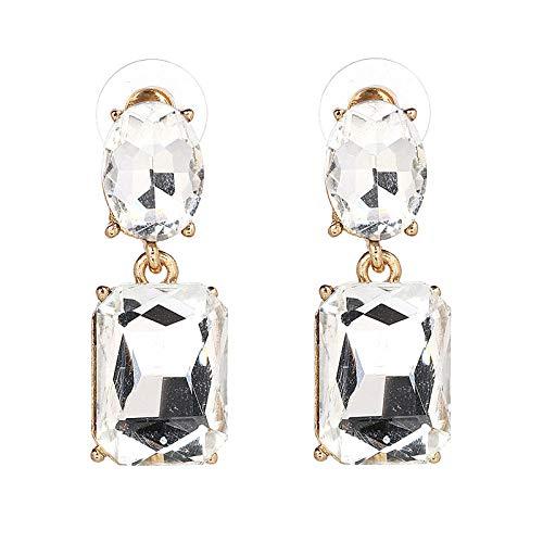 Pendientes de diamantes de vidrio de aleación de gama alta joyas de aretes clásicos Kdw
