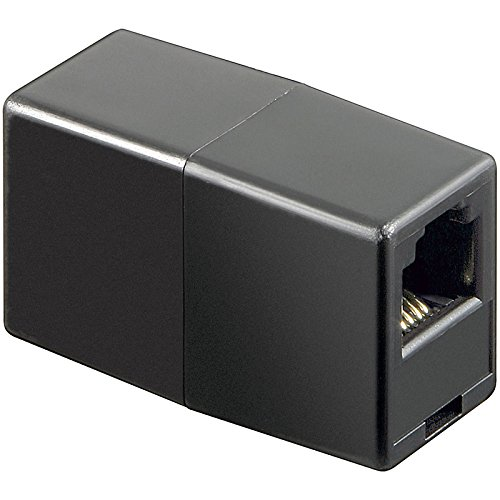 Wentronic Telefon Adapter (RJ11-Kupplung, RJ11 Buchse auf RJ11 Buchse)